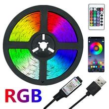LED Strip Lights RGB 2835 Color Bluetooth USB IR Remote Flexible Lamp Tape Diode DC5V TV Backlights