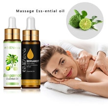 10ML Citrus Bergamia Single Essential Oil With Dropper Massage Oil Moisturizing Hair Care Cuticle Oi