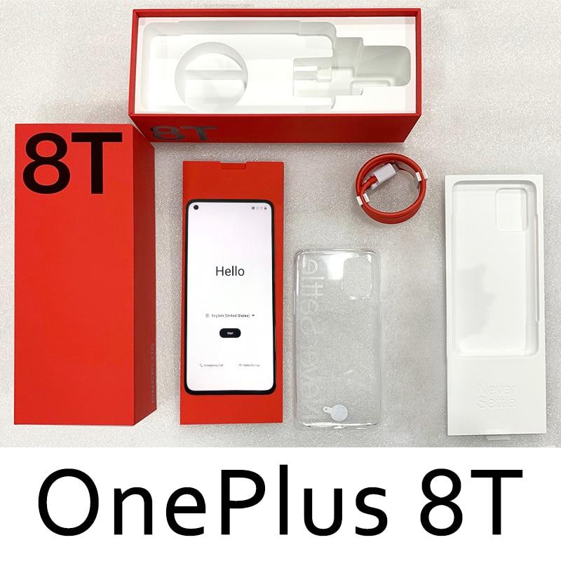 Фото5 - Глобальная версия OnePlus 8T, 8 T, OnePlus Official Store, 8 Гб 128 Snapdragon 865 5G смартфон 120 Гц активно-матричные осид жидкости Экран 48MP Quad камеры 4500 мА/ч, 65 Вт Warp; code:...