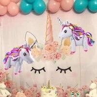 unicorn balloon happy birthday party decorations unicorn party supplies baby shower boy girl favors unicornio home decoration
