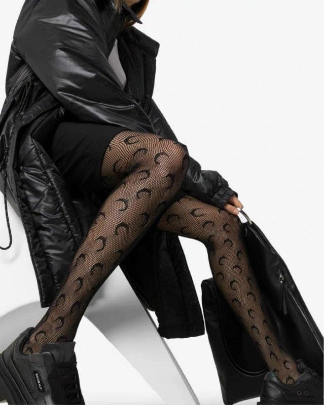 Spring Summer New Pattern Fashion Versatile Silk Stockings Crescent Moon Net Stockings Pantyhose Underpants M2