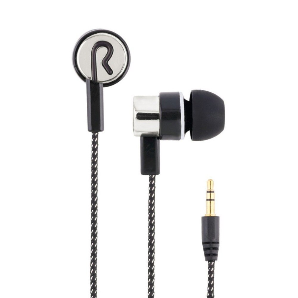 AliExpress - Universal Braided Headset Wired Earphone with Microphone 3.5mm Wired Control Super Bass Universal for Android iPhone Xiaomi