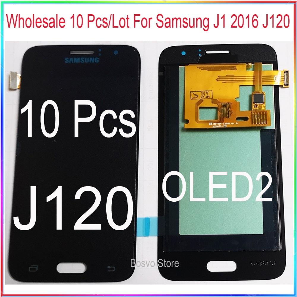 Оптовая продажа 10 шт./лот для Samsung J1 2016 J120 ЖК-дисплей с сенсорным дигитайзером в сборе