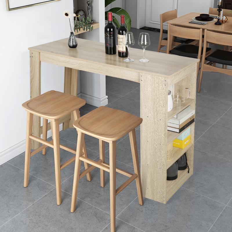 الشمال بسيطة خشبية طاولات القهوة الحديثة منصة مشروبات جميلة مع الجانب تخزين مكتب مذاكرة بار طاولة كمبيوتر محمول أثاث المنزل