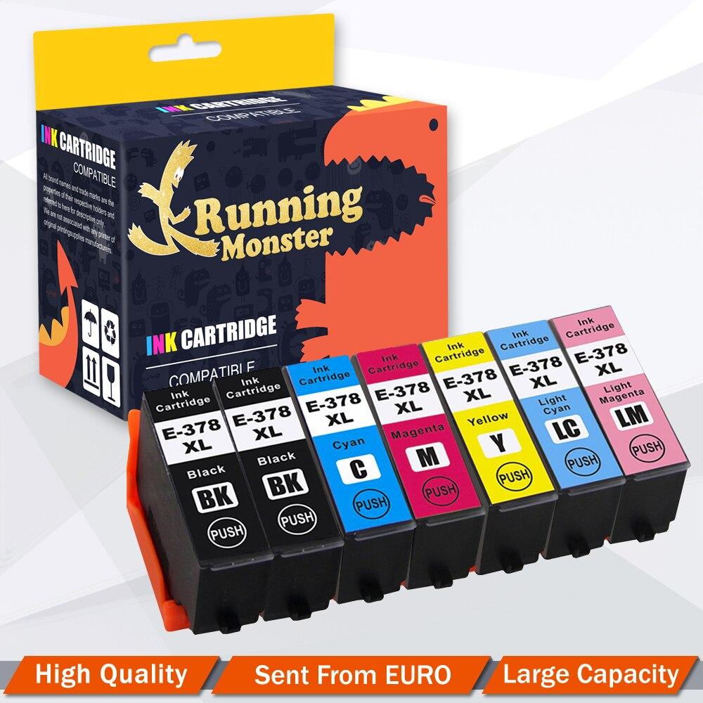 7 peças cartuchos de tinta compatível para epson t378xl t378 expressão foto XP-8500 XP-8505 XP-15000 impressoras 378 378xl