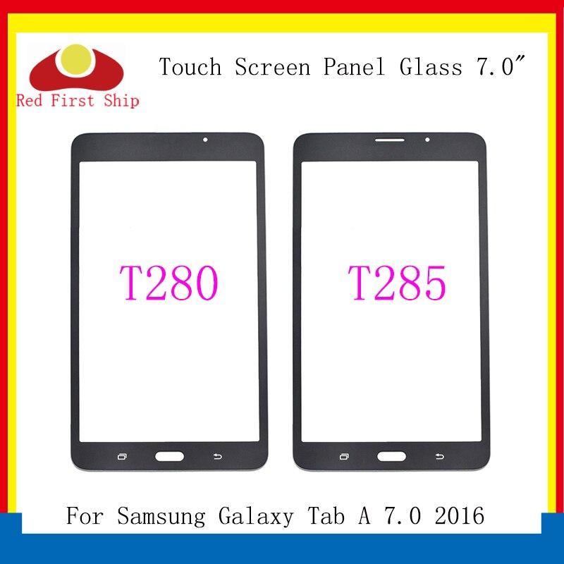 10 unids/lote para Samsung Galaxy Tab A 7,0 2016 T280 T285 Panel de pantalla táctil Lente de Cristal SM-T280 SM-T285 LCD reemplazo frontal exterior