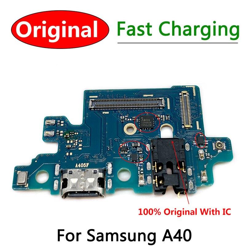 Conector De Carga de carga para Samsung A40, Cable flexible, placa De...