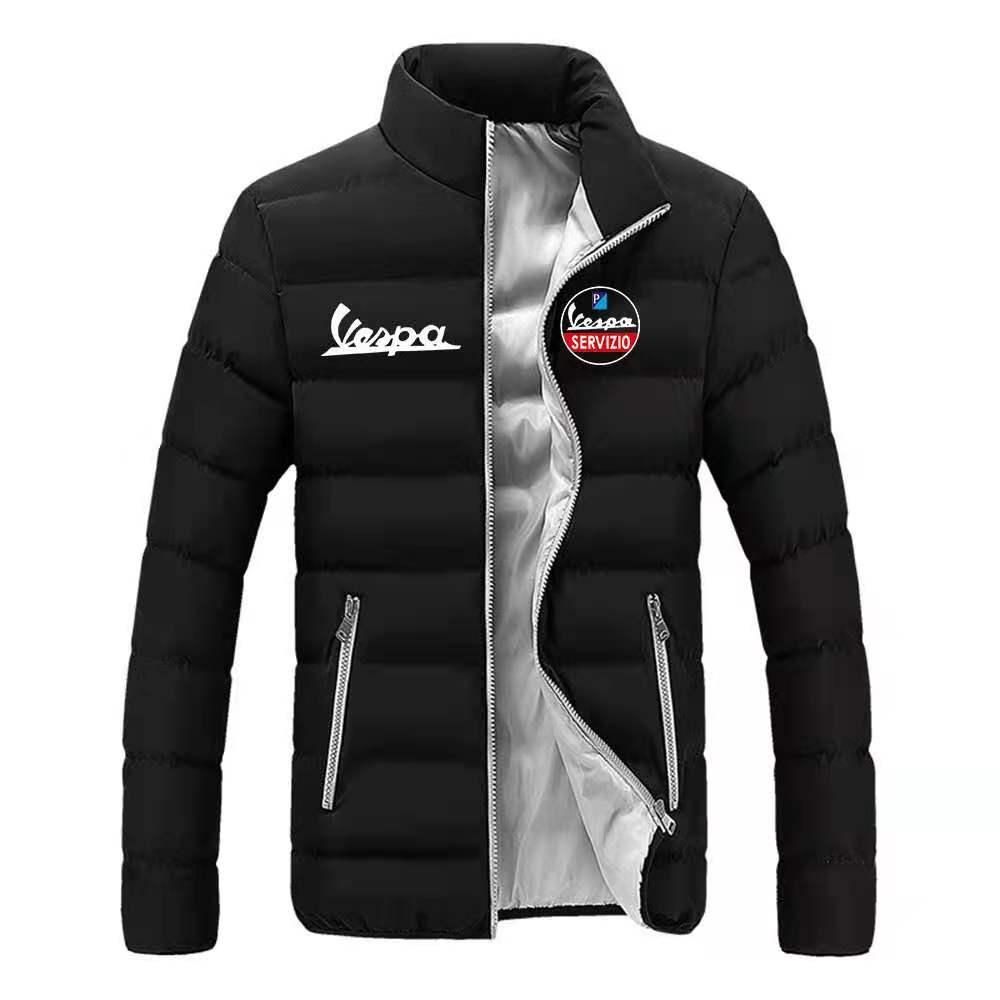 Мужская модная трендовая одежда Vespa с логотипом на молнии, 2021 хлопок, зимняя теплая Стильная мужская брендовая Классическая куртка