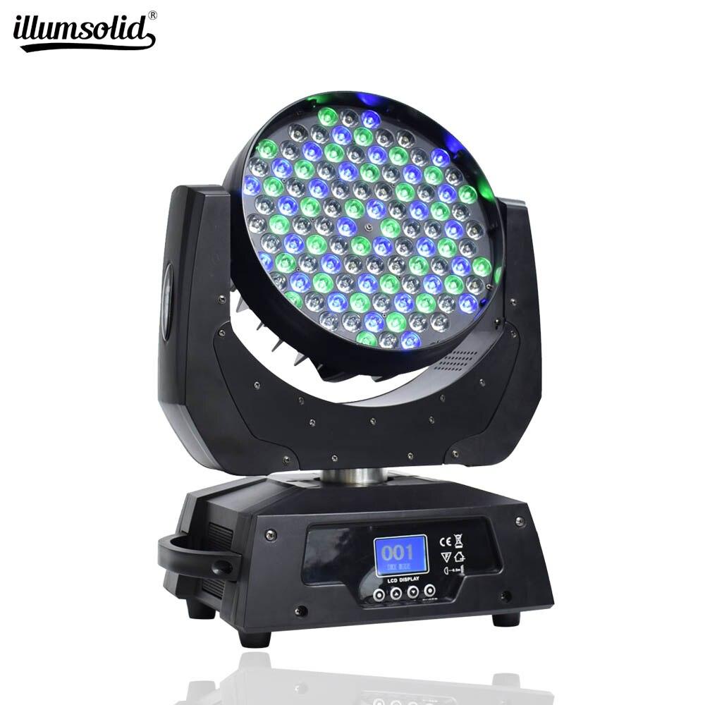 Luces de escenario con cabezal móvil, luz Led para Dj, efecto de lavado 108x3w RGBW, 4 Leds de Color, dispositivo de escenario, haz de luces Led Dmx512 para discoteca