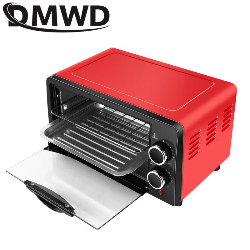 Horno eléctrico para el hogar DMWD, 12L, pequeño horno para hornear pasteles, horno multifuncional de escritorio, máquina para hornear pan y Pizza, tostadora EU US