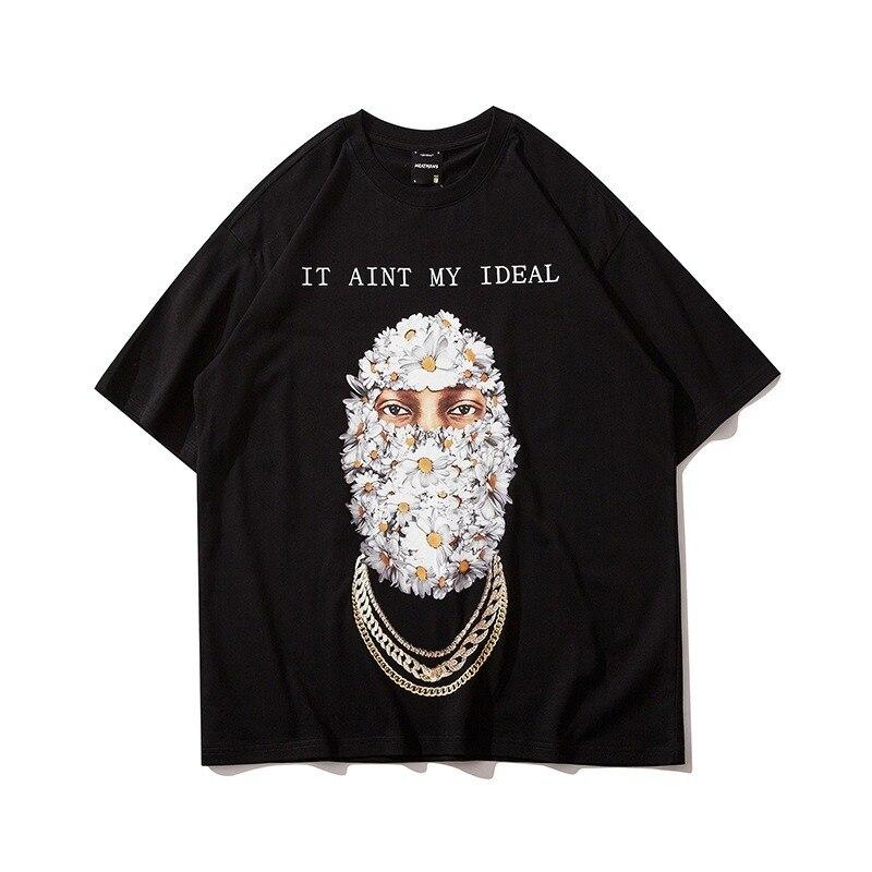 2021 verão hip hop harajuku t-shirts das mulheres dos homens de alta rua tendência de rua de grandes dimensões solto casal manga curta t camisa