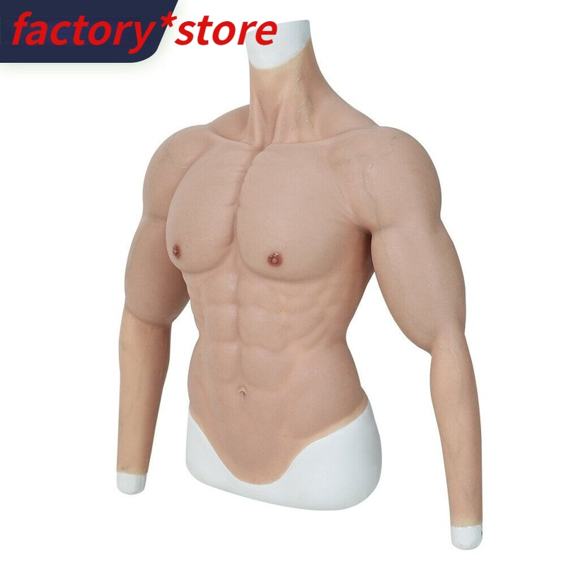 Realistic Male Silicone Fake Chest Muscle Body Suit Belt Is Mostly Used for Cosplay Costume Cosplay