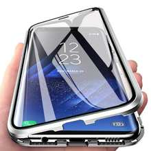 Magnetic Double Sided Glass Case For Samsung S21 S20 Ultra S20 S21 S10 S9 S8 Plus Note 20 Ultra Note 8 9 10 Pro Full Protection