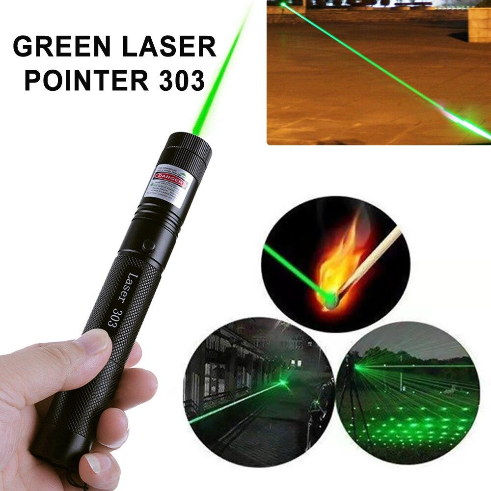 Лазерный прицел 532 нм 5 мВт, зеленые лазеры, указка высокой мощности, регулируемый фокус, лазерная ручка, горящая спичка