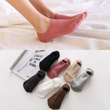 5 pairs Womens Short Socks high quality solid color Sweet Cotton Women Socks Casual  Women Ankle Socks Funny Socks Female