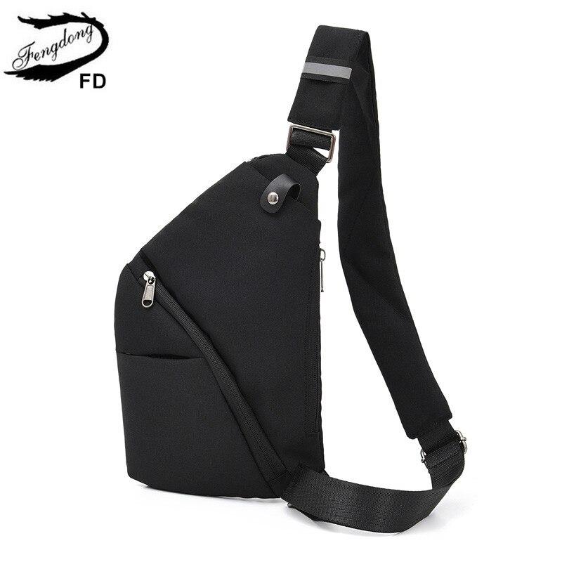 FengDong pequeño anti-robo bolsas de bandolera para Mujeres Hombres bolsas de mensajero mini backbag boy sling chest bag paquete bolsa de viaje ultradelgada