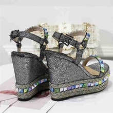 Ollymurs New Fashion Brand High heel Sandals Open Toe Chunky Heels Platform Shoes Women wedges shoes