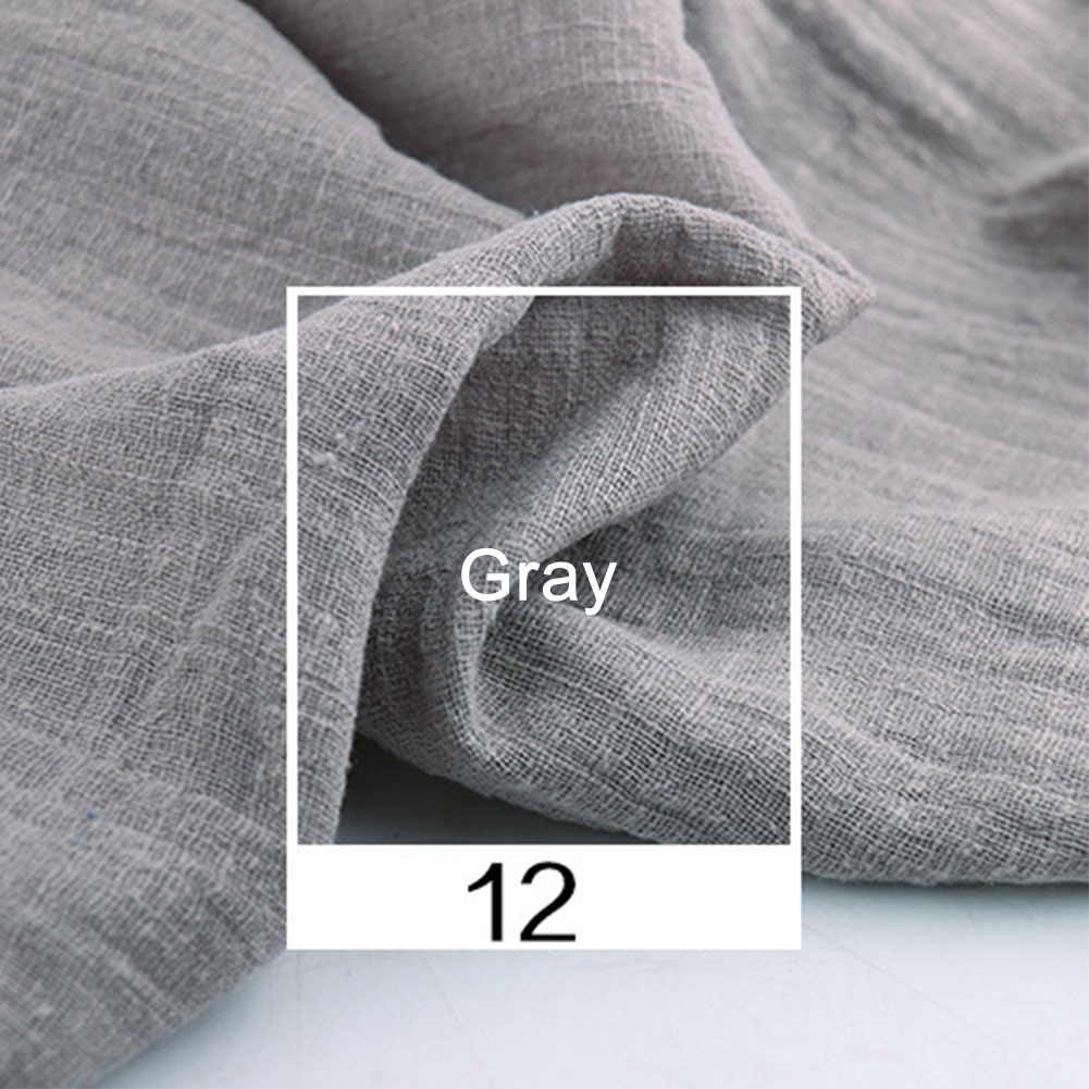 2m suave DIY absorción Natural del sudor fino tela orgánica Cambric algodón Lino tela Color sólido costura artesanal Lino Eco agradable