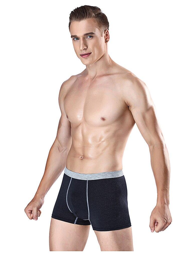 Men's underwear Mid-waist comfortable ice silk breathable U-convex underwear Men's boxer briefs