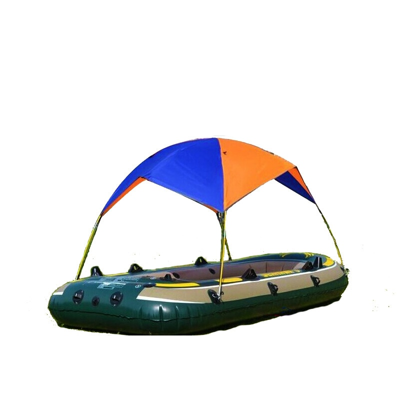 Tienda de sombrilla plegable inflable, toldo para el sol, bote, toldo, abrigo de lluvia, cubierta de sombra para pesca, tiendas de campaña, 4 personas