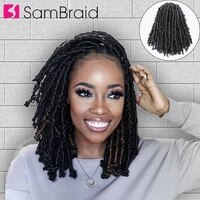 sambraid distressed locs 14inch new locs for hair crochet braiding hair faux soft locs synthetic braids hair extensions