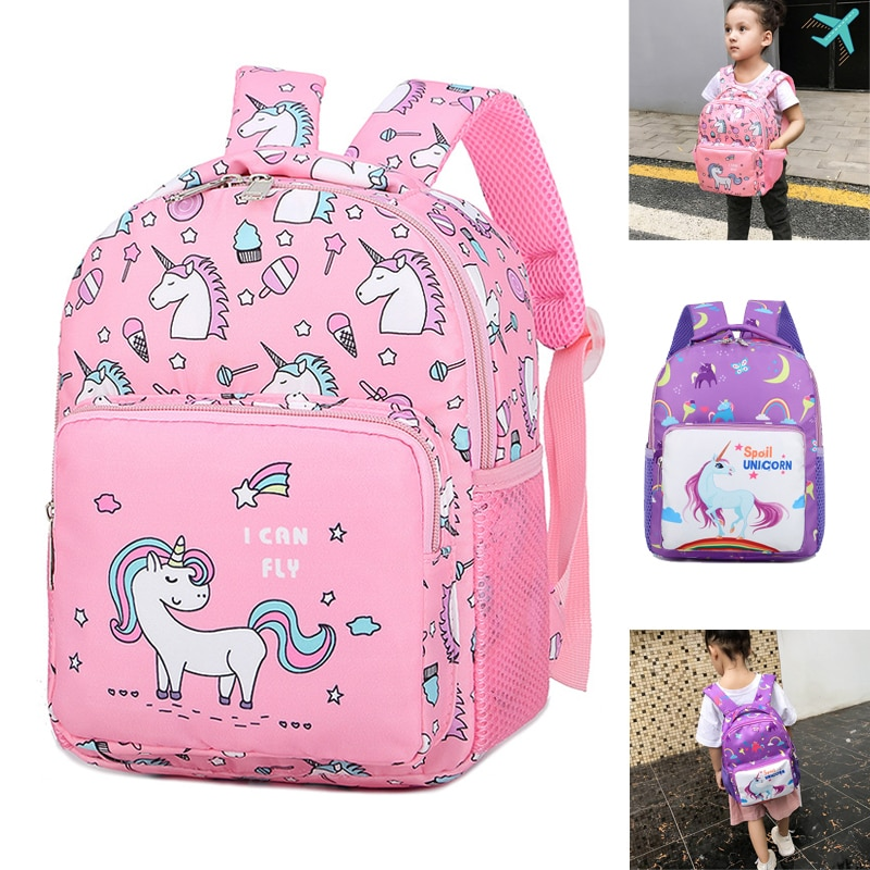 AliExpress - Pink Nylon Printing Children Backpack Kindergarten Student Purple Cartoon Cute Girl Schoolbag Waterproof Portable Child 2020 Top