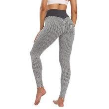 INITIALDREAM Honeycomb Fitness Women Leggings High Waist Booty Lfiting Push Up Pants Seamless Workou
