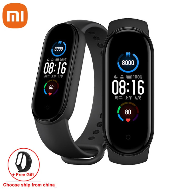Xiaomi Mi Band 5 Smart Bracelet 1:1 large AMOLED Screen Heart Rate Fitness Traker Bluetooth 5.0 Sport Waterproof band 5
