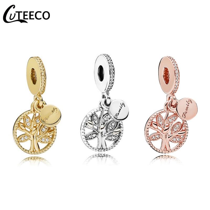 CUTEECO 2019 Hot Tree Of Life Pendant Fits Original Pandora Charm Bracelet Family Origin DIY Beads Fashion Jewelry Accessories