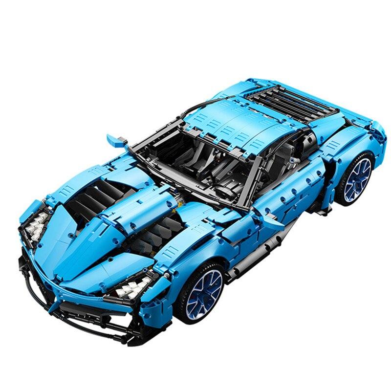 ¡Novedad de 2020! Corsé técnico de Chevrolet, modelo de gran deporte Il Toro Azzurro Fit MOC-31189, bloques de construcción, juguetes de regalo