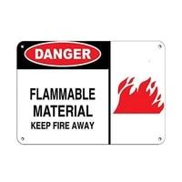 danger flammable material keep fire away flammable tin sign art wall decorationvintage aluminum retro metal sign