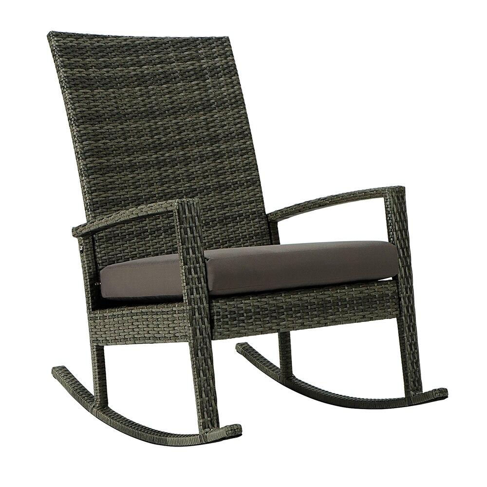 Два Цвета US Warehouse сад кресло-качалка из ротанга кресло-качалка садовая мебель патио мебель в наличии