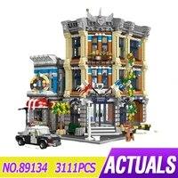 jiestar 89134 street view police station moc moduler building blocks bricks educational puzzle toy christmas gifts