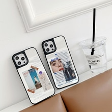 Luxury Fashion Art Letter Label girl Phone Cases For iPhone 12 Pro Max Mini 11 Pro XR XS MAX 8 X 7 M