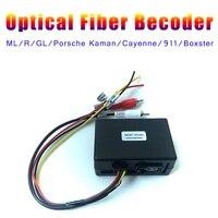 audio input for benz w164 w251 fiber box aux in optical fiber ml gl r slk for cayenne decoder boxster cayman amplifier bose