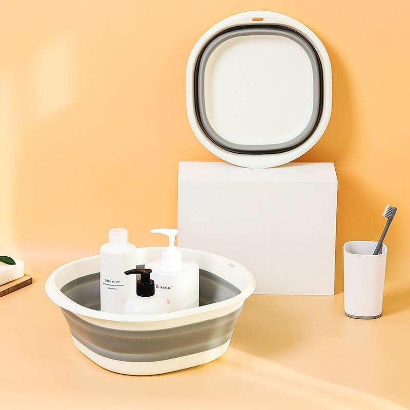 Portable Folding Washbasin Home Telescopic Plastic Laundry Tub travel Folding Kitchen organizer Home Water Bowl Fruit tray enlarge