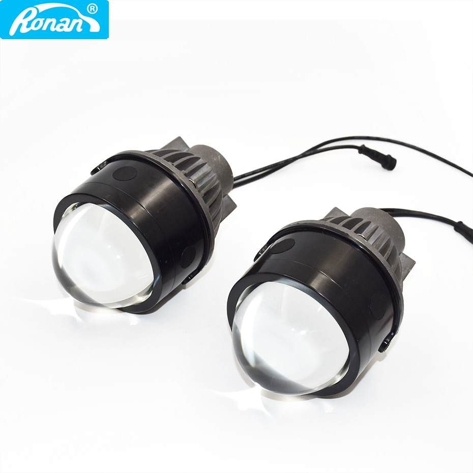 Ronan 3.0'' bi led fog light lens 5500k 2800lm full waterproof built-in driver easy installation car headlight DIY retrofit