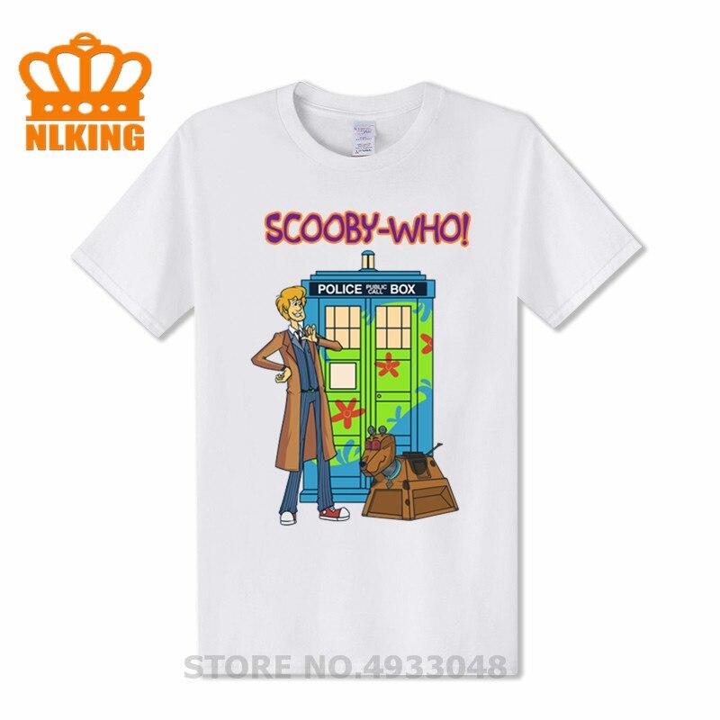 Camisetas de cómic de Doctor Who Peanuts, camiseta de scooby-doo Terrier con perro Dr Who, camiseta de tiempo Tardis y Space Ship Dalek, divertida camiseta 3D para hombre, 3xl