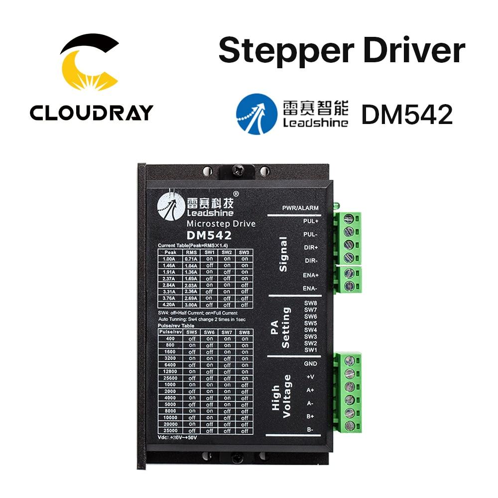Leadshine-pilote Stepper DM542   2 phases 20-50VAC 1.0-4,2a, pour NEMA17 NEMA23, contrôleur de moteur Stepper 42 57
