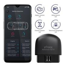 Диагностический сканер XTOOL AD10 OBD2, Bluetooth ELM327, инженерный код, чтение, работа с iOS/Android и проекционным дисплеем HUD