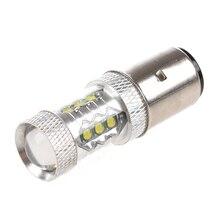 16*80W LED moto/cyclomoteur/Scooter/ATV phare ampoule BA20D H6