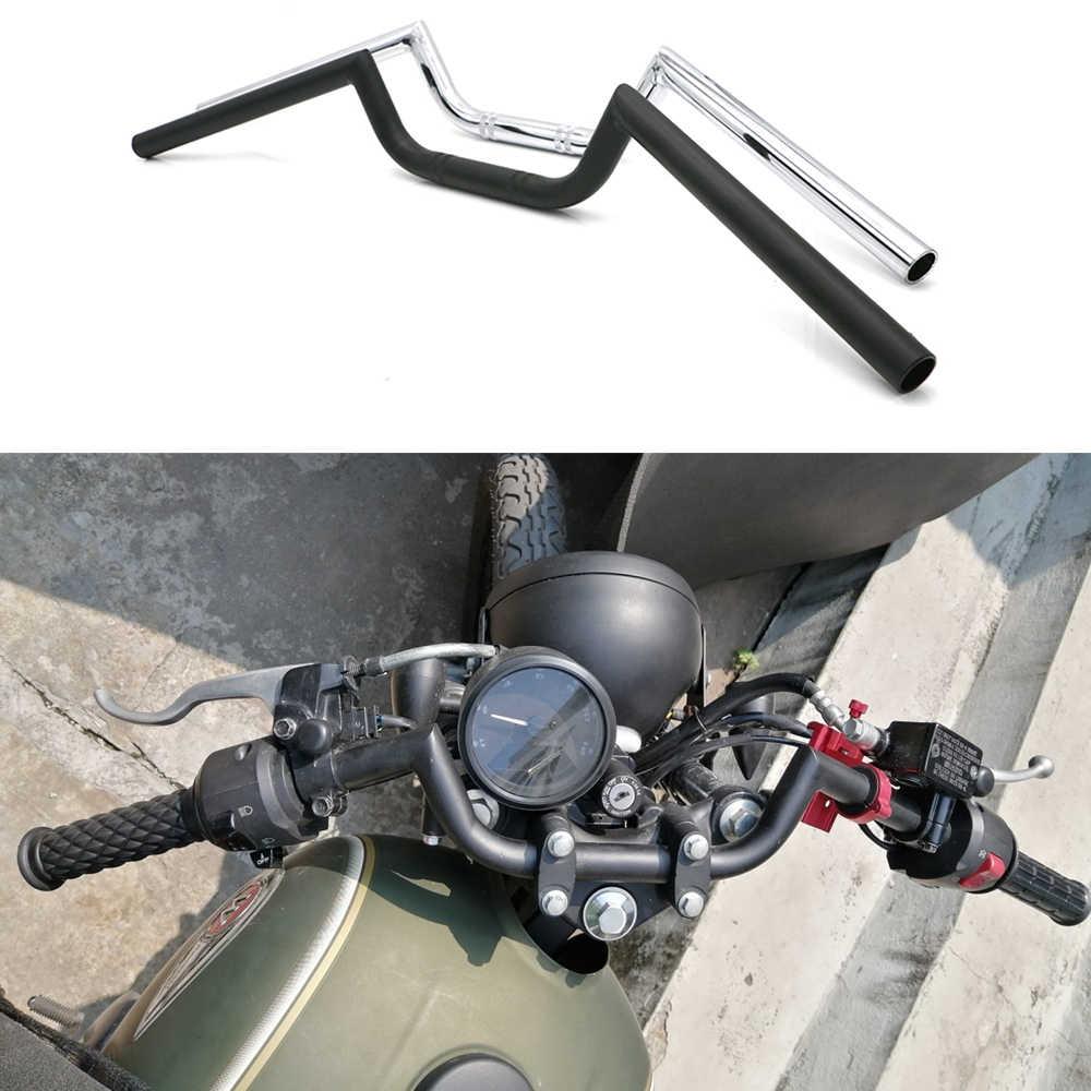 Manillar Retro De 22mm Para Motocicleta Manillar De 7 8 Pulgadas Para Chopper Bobber Scrambler Cafe Barra De Dirección Soldada Con Inglete De Precisión Manillar Aliexpress