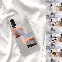 fashion collage beautiful art phone case transparent for vivo x 60 50 30 27 23 21 20 9 pro plus s i soft tpu clear mobile bags
