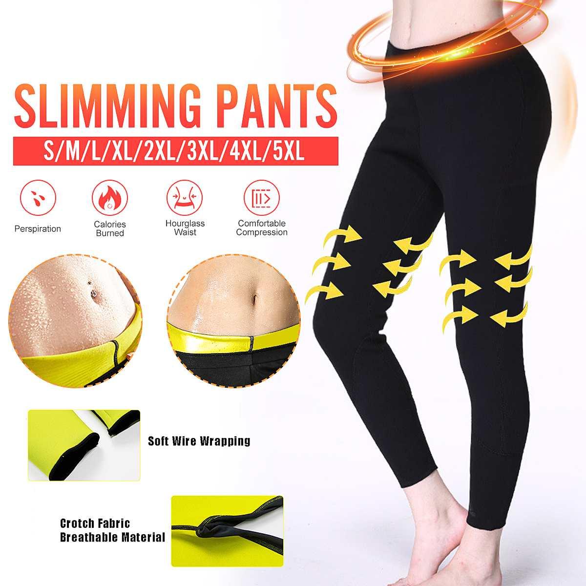 Women's Hot Sauna Pants Neoprene Sauna Slimming Pants Gym Workout Hot Thermo Sweat Leggings Shapers