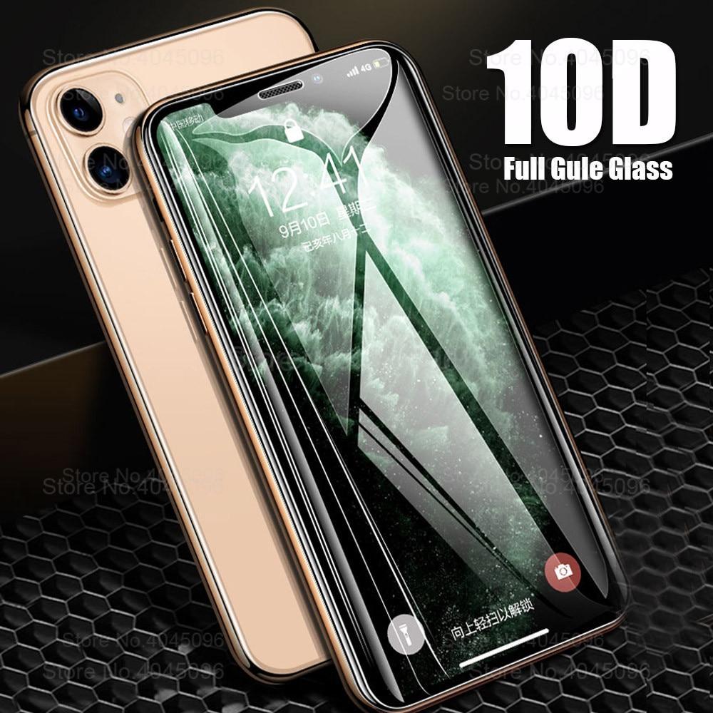 10D защитное стекло на Apple iphone 11 pro max x xr xs max защита экрана Броня iphone 11 pro 11 promax x s r tremp стекло