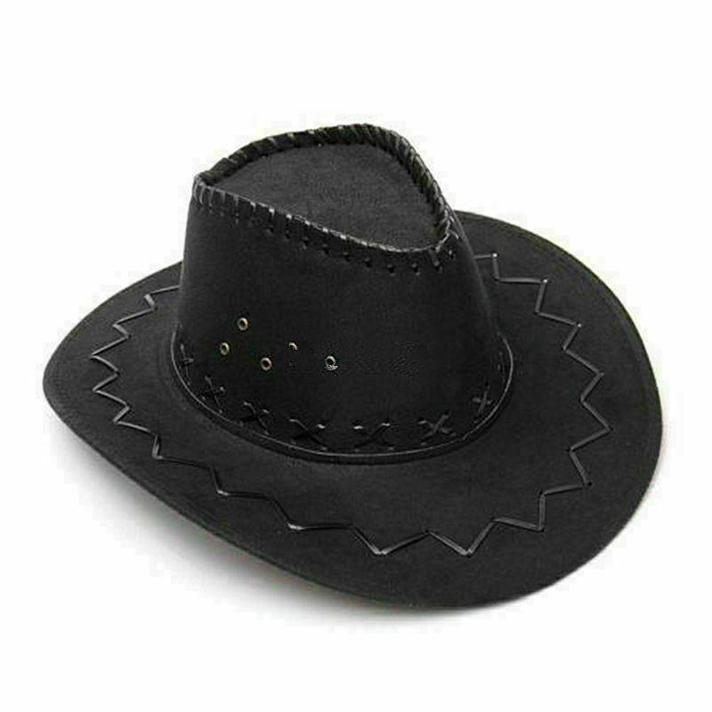 Gorras de tela vaquera occidental para hombres sombrero con visera de jazz sombrero con visera ancha