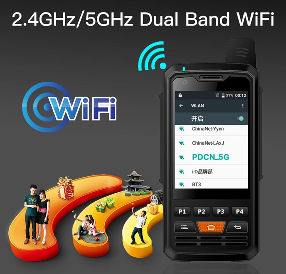 UNIWA-هاتف خلوي لاسلكي F50 Zello PTT ، شاشة تعمل باللمس 2.8 بوصة ، بطارية 4000 مللي أمبير ، هاتف ذكي 4G LTE ، Android 6.0 ، رباعي النواة ، 2G ، 3G ، 4G