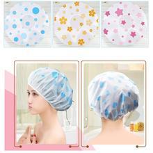 Sale Shower Cap Waterproof High Quality Hair Salon Elastic 1PC Thicken For Women Bath Hat Bathroom P