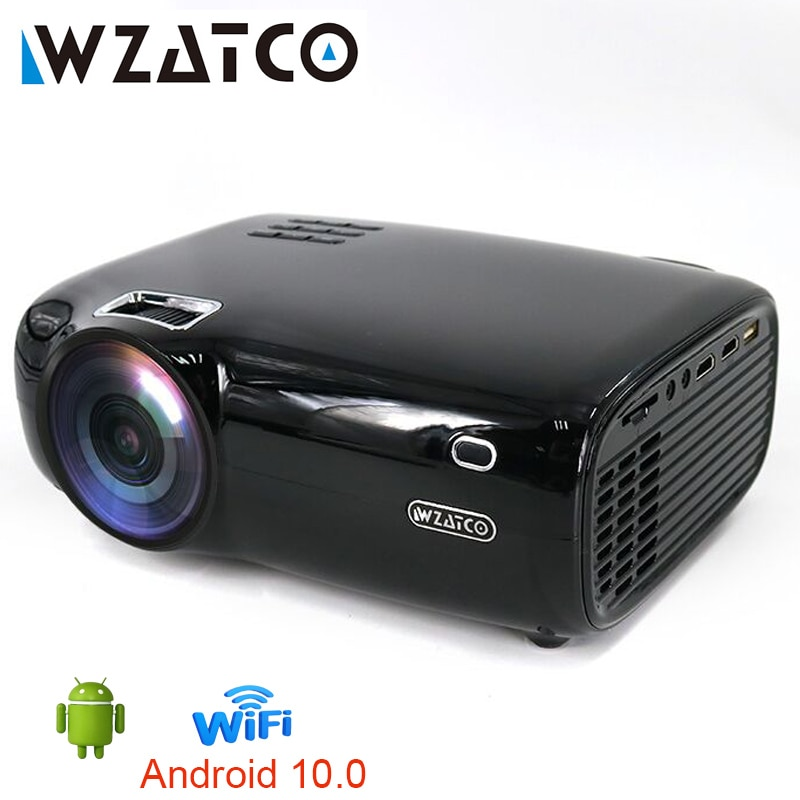 WZATCO E600 LED Projector Support AC3 1080p 4K 3D Video Android Wireles Wifi Smart Portable HD I Hom