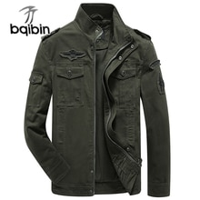 Plus Size Military Jacket Men Spring Autumn Cotton Army Solid Mens Jackets and Coats Fashion Armband